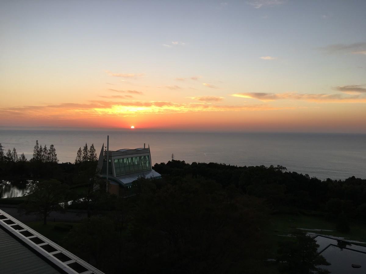 そして朝日も綺麗に見れました