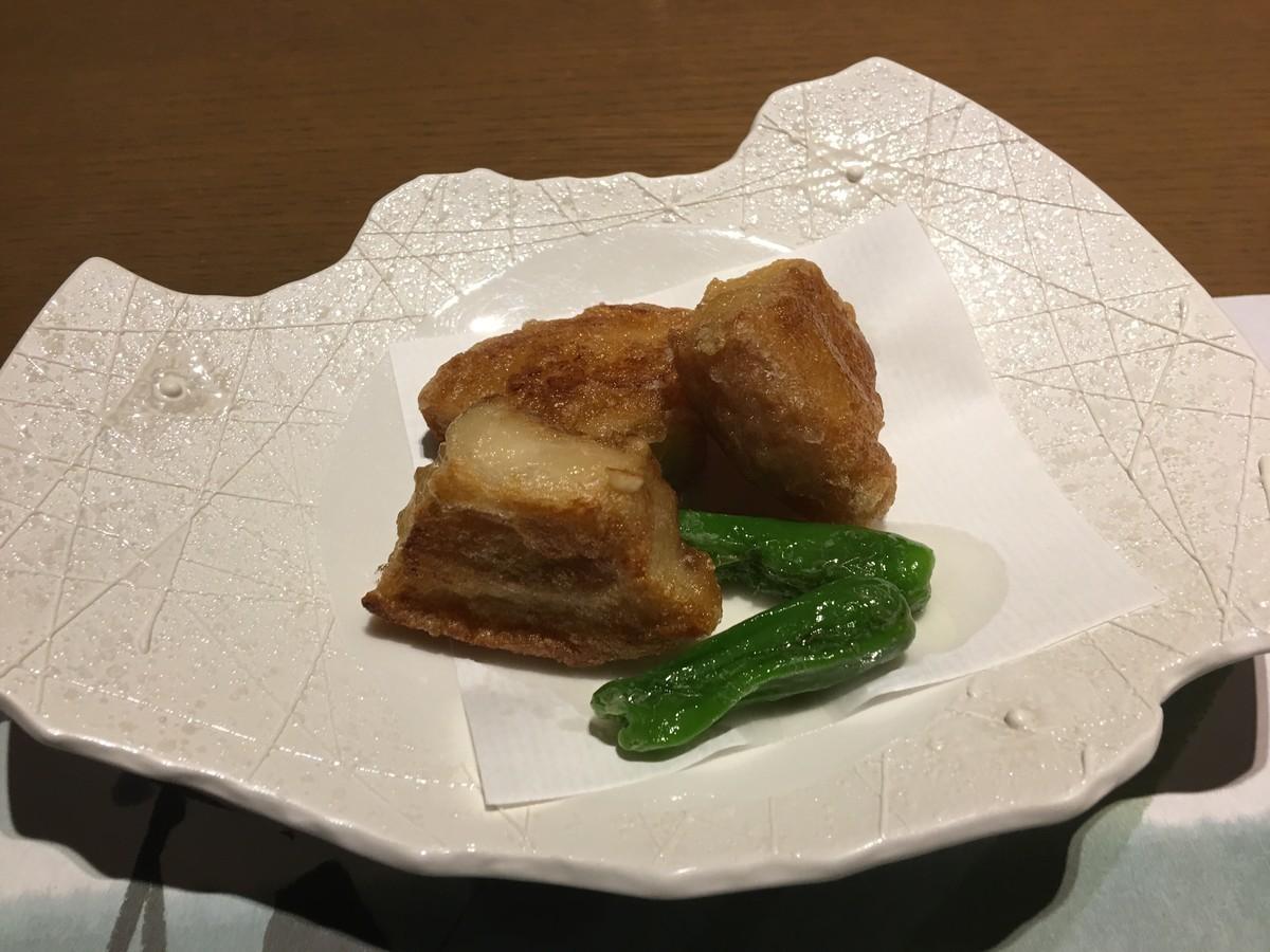 豚の角煮風揚げ豆腐