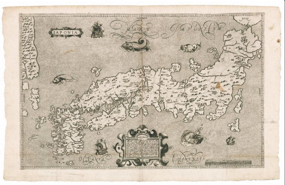 1617年のブランクスの日本図