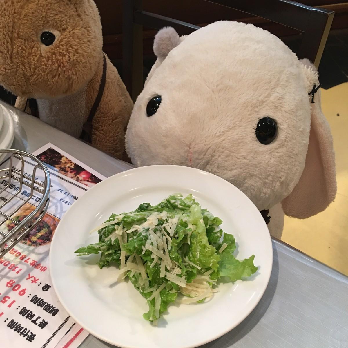 そしてお待ちかねのサラダの登場