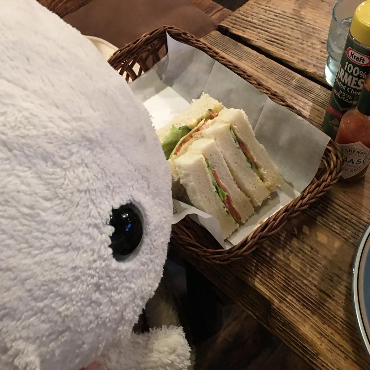 砂時計さん野菜サンド