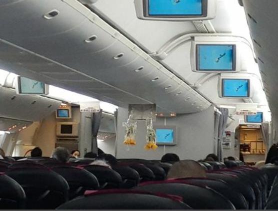 JAL904便 機内の様子