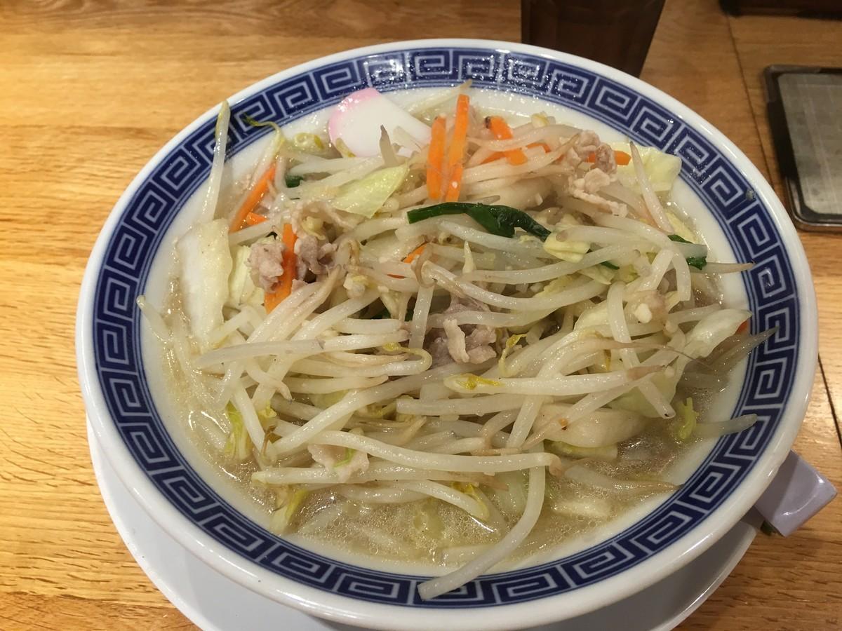 うさ次郎さんは野菜たっぷりタンメン
