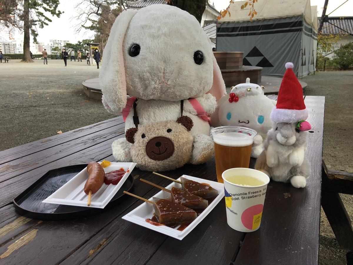 小田原城で一杯