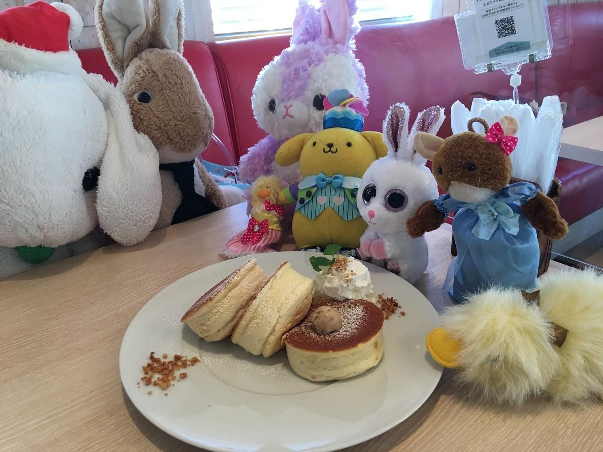 みんなでパンケーキを食べました