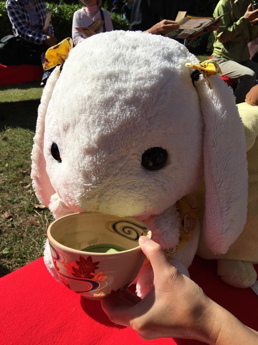 亭主からお茶をいただきました