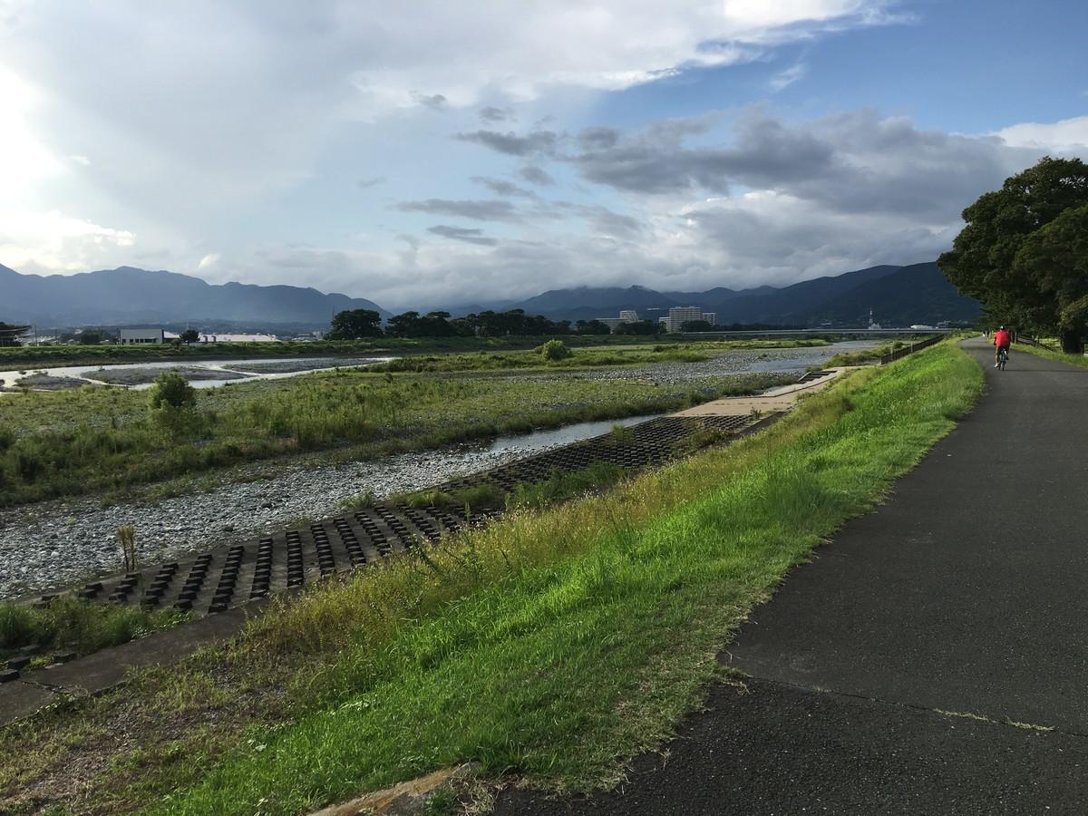 酒匂川沿いにある大井高校