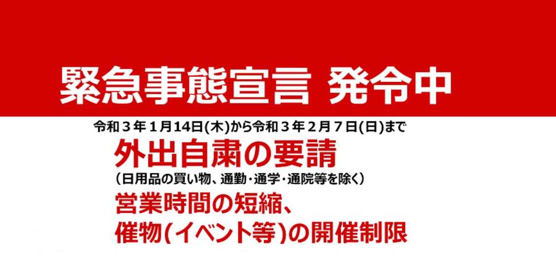 栃木県の緊急事態宣言詳細
