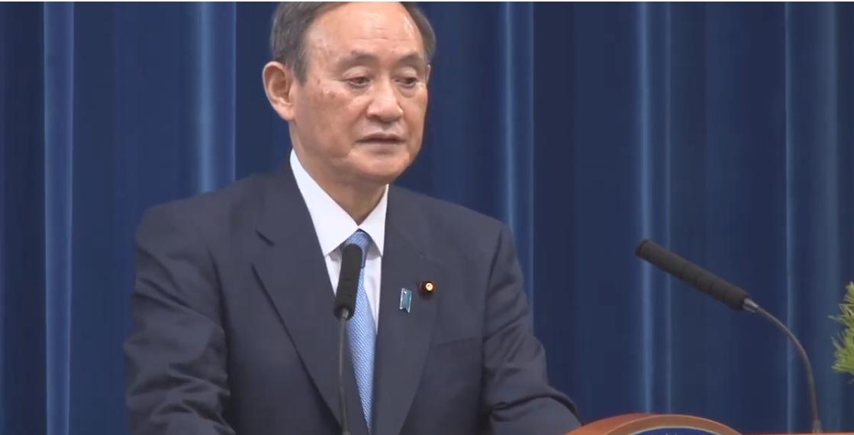 不機嫌な菅総理大臣の中継映像
