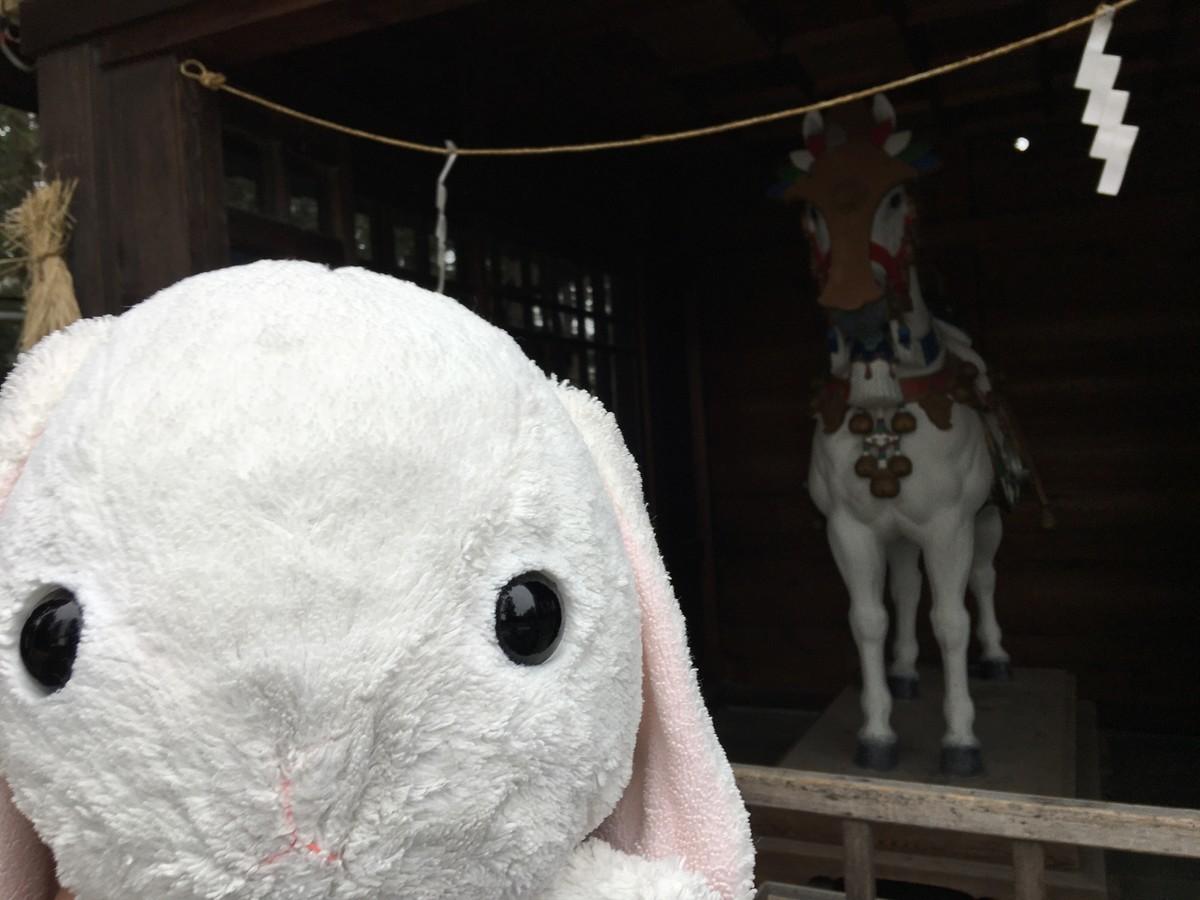 穂高神社の馬