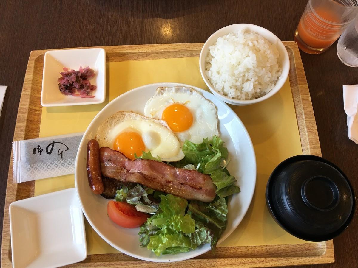 フライエッグ和定食 590円