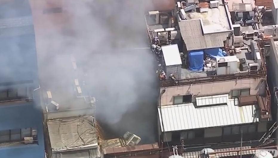 ミナミ繁華街で火災!大阪市中央区東心斎橋のマリンバ カフェ 付近建物で火災!