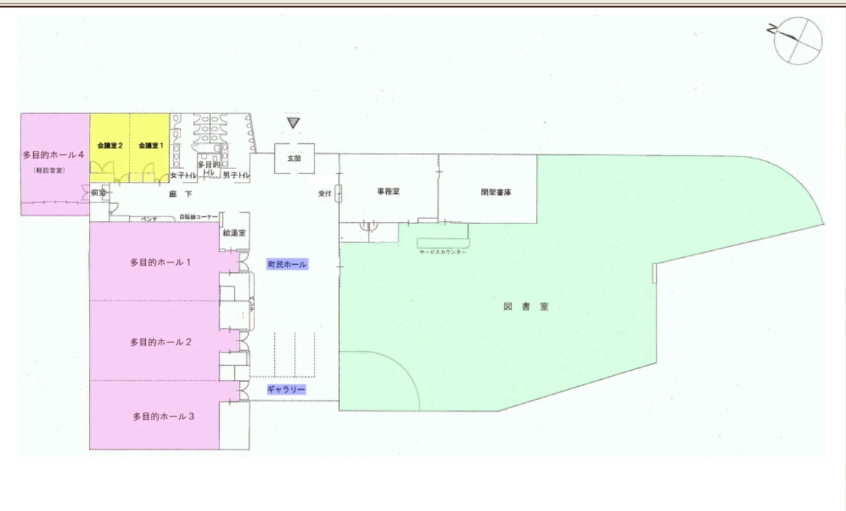 棚倉町立図書館女子トイレの場所