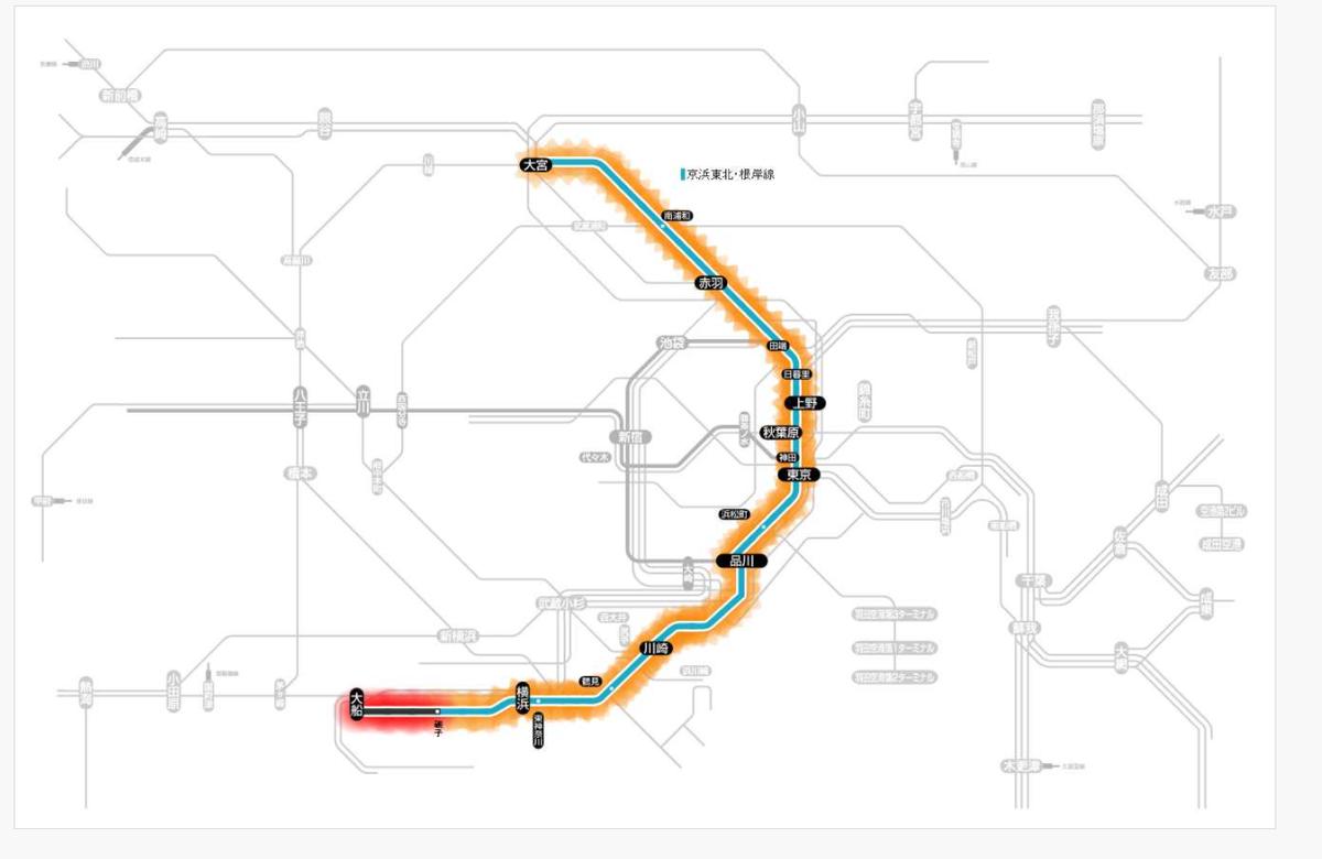 京浜東北線は全線で運転見合わせ!新杉田駅で人身事故で振替輸送