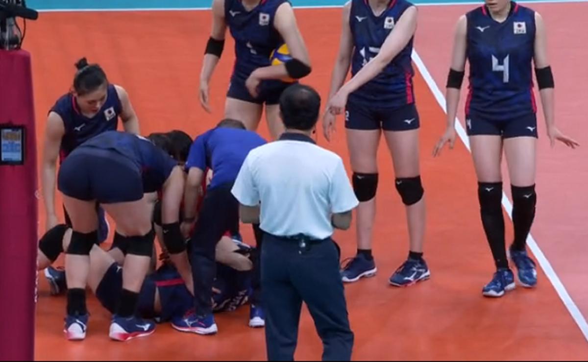 バレーボル日本代表背番号2番古賀 紗理那選手負傷で途中交代!怪我の容態は?