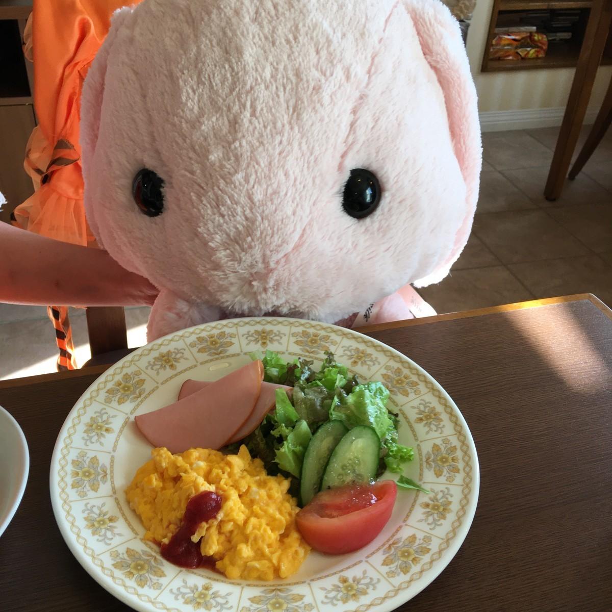 朝食はお野菜たっぷりです