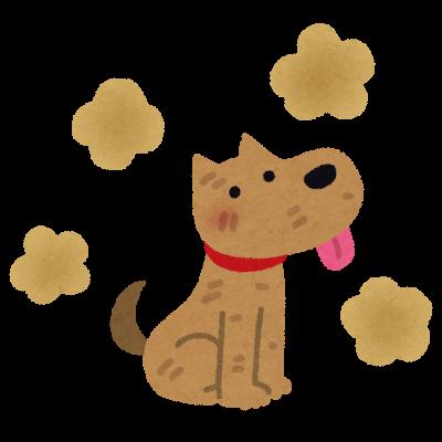 臭い犬の絵