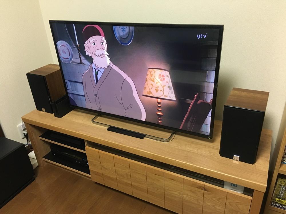 DALIのスピーカーZENSOR1をテレビ台に設置したところ