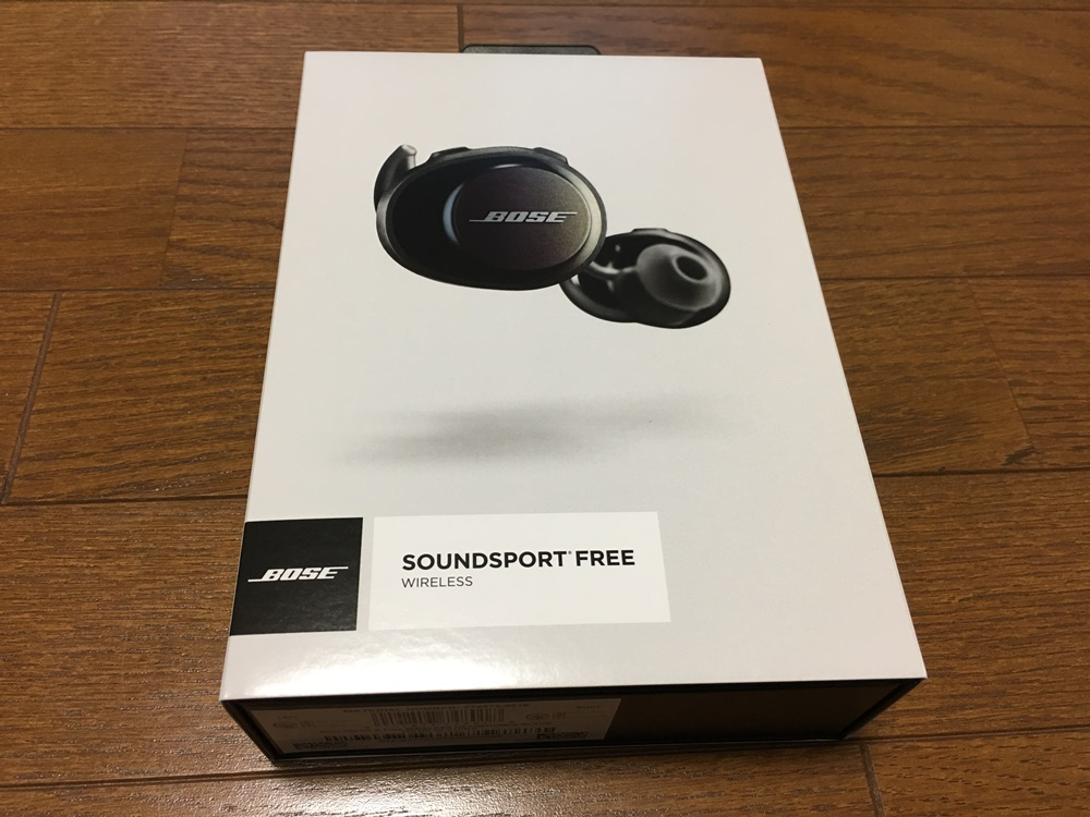 BoseのSoundSport Free wireless headphonesのパッケージ
