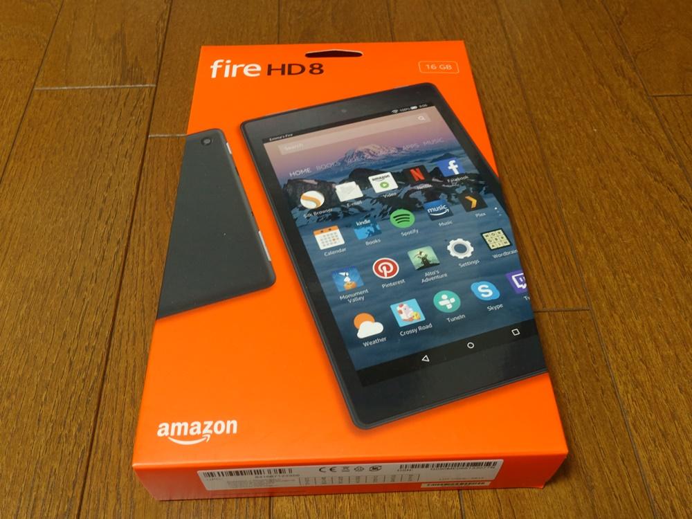 AmazonFireタブレットHD8のパッケージ