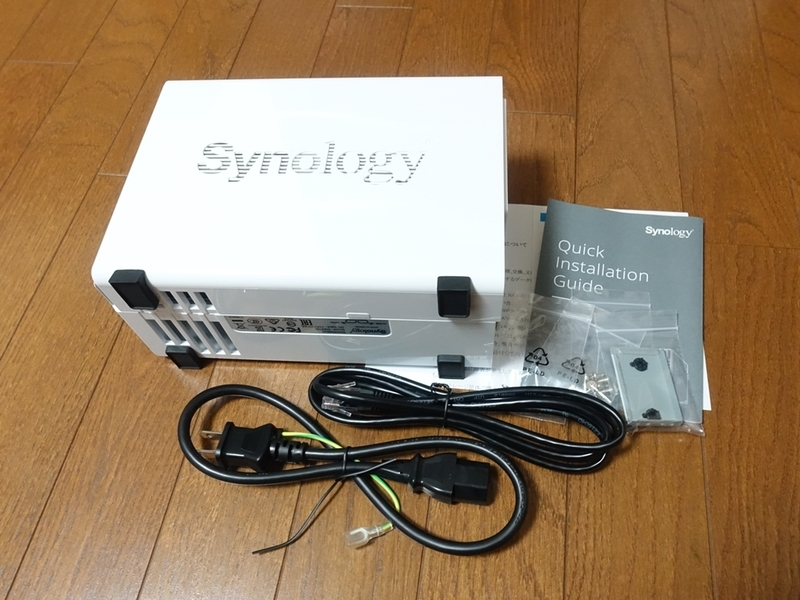 Synology DiskStation DS218jの付属品