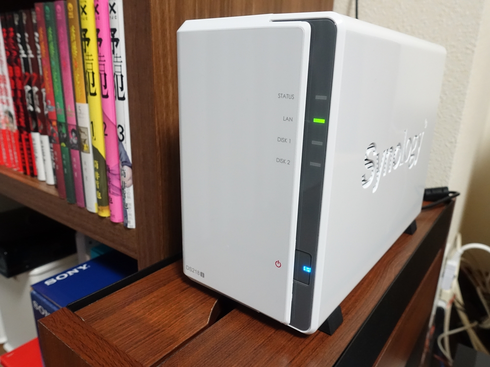 Synology DiskStation DS218jの全体