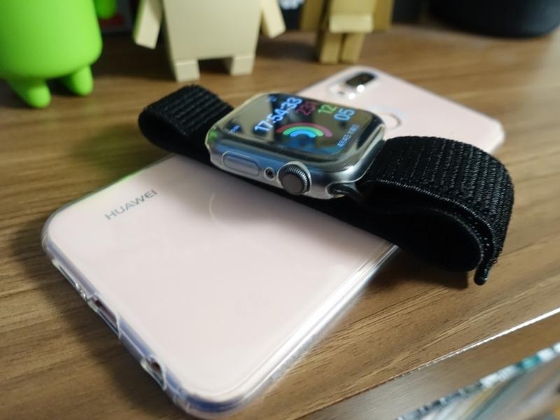 HUAWEI P20liteサクラピンクとApple Watch