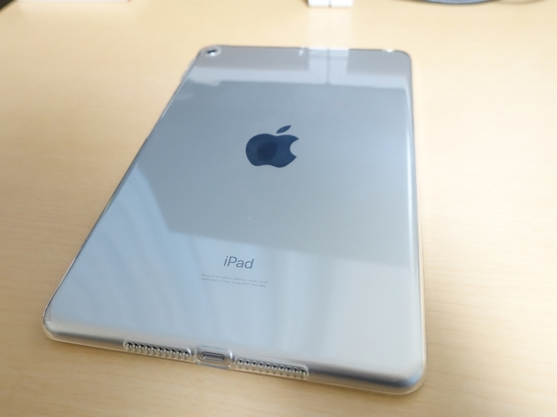 iPad mini 第5世代 TPUケース 装着時の本体外観