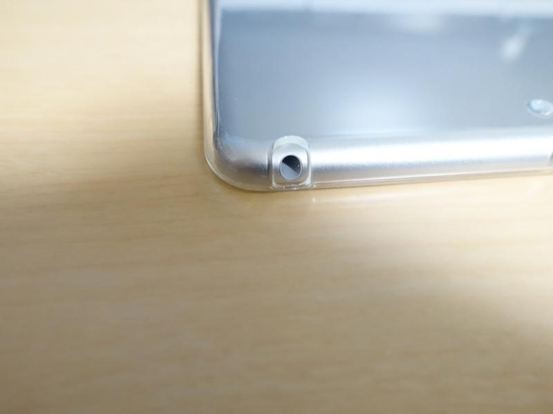 iPad mini 第5世代 TPUケース イヤホンジャック周り