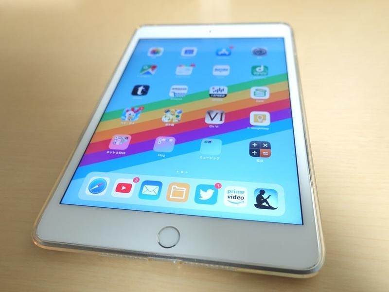iPad mini 第5世代 TPUケース 装着時の外観