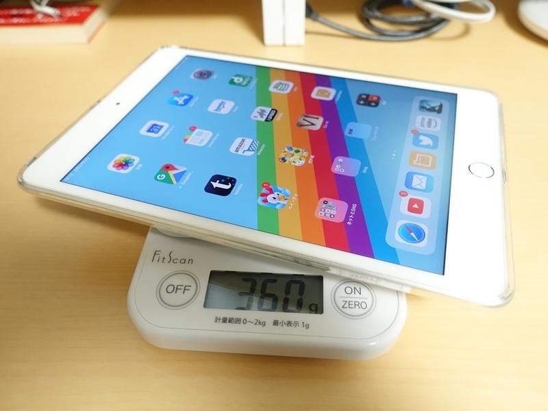 iPad mini 第5世代 TPUケースの質量