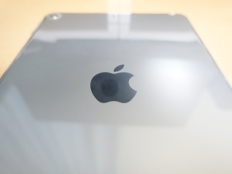 iPad mini 第5世代 TPUケースにiPadを入れての林檎マーク周り