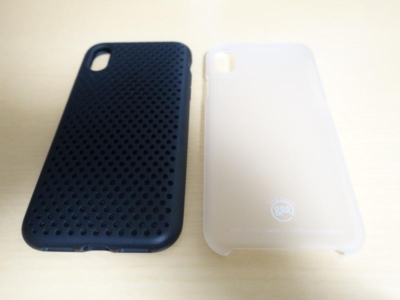 AndMesh iPhone X ケース Basic Caseとメッシュケースの比較