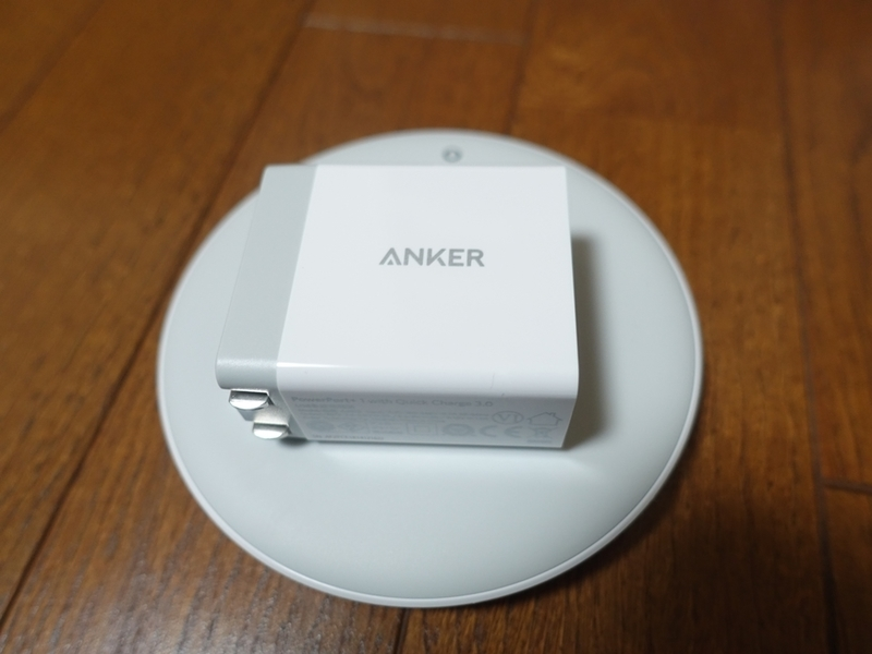 Anker PowerWave 7.5付属の電源アダプタ