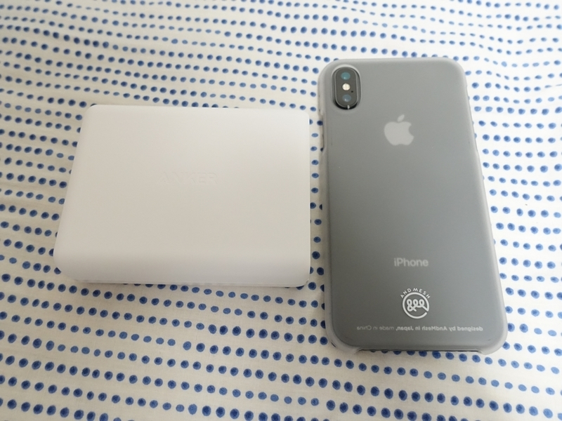 Anker PowerPort I PDとiPhoneをサイズ比較