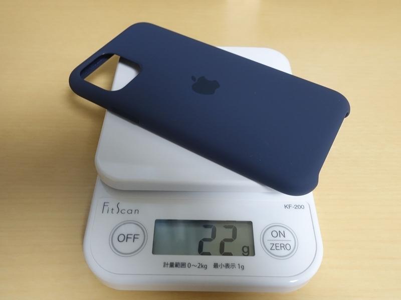 iPhone11ProApple純正シリコンケースの重さ