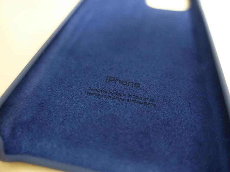 iPhone11ProApple純正シリコンケースの裏面
