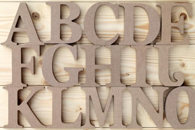アルファベットのブロックの写真