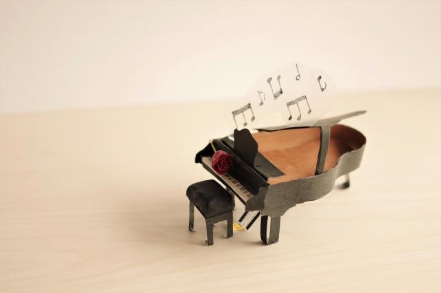 ピアノの模型と音のイメージ
