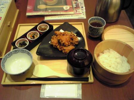 四六時中の桜島鶏の唐揚げ定食
