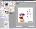[desktop]ドット作成画面*SAI。新規ビュー大好きぃ