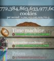 [game]#cookieclicker 1000,000%くらいのリセットォ