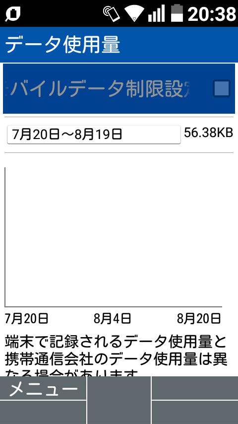 GRATINA 4G。モバイル通信オフ。