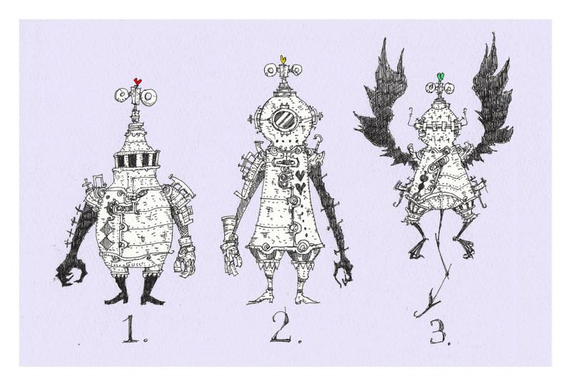 個別イラストillustrationモンスター甲冑ゼンマイスチーム