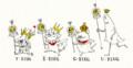[イラスト][illustration][王様][king][4人の王様]4人の王様