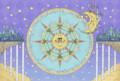 [イラスト][太陽][月][星][夜]昼と夜