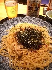 地鶏の和風ペペロンチーノ (1050円) / 洋麺屋 五右衛門 (恵比寿)