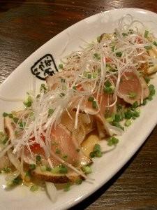 地鶏のたたき (480円) / 肴や 恵っちゃん (恵比寿)