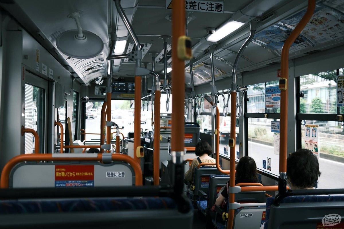 路線バスの車内