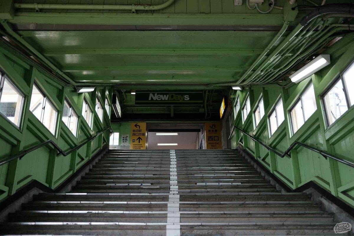 岩沼駅の跨線橋(連絡通路)